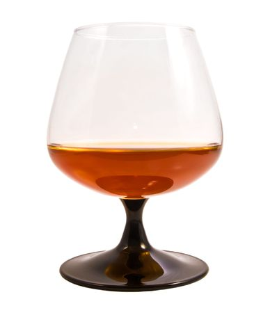 snifter: Brandy snifter isolated on white