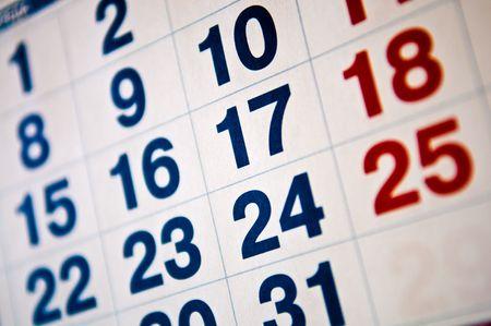 calendar vacations concept Stock Photo