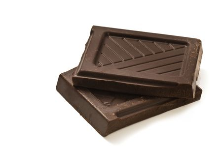 broken chocolate bar Stock Photo