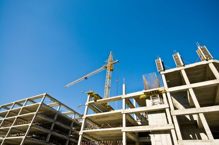 construction crane and building Stock Photo - 3327840