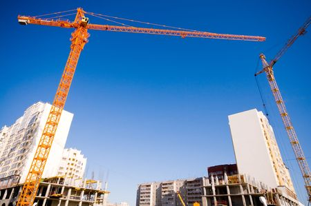 construction site with crane and building Stock Photo - 3386095