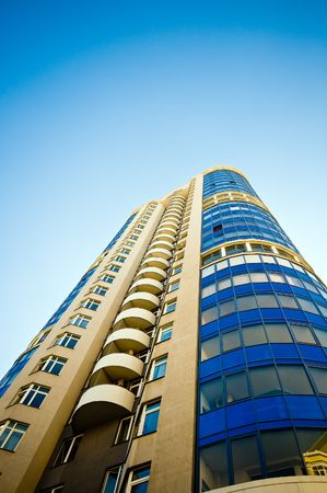 luxury apartment exterior with blue sky background Stock Photo - 3384115