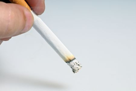 frugality: stubbing out a cigarette