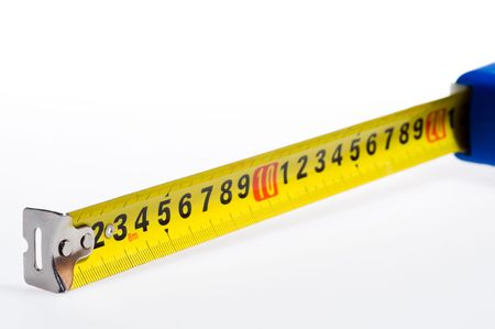 Tape Measure on white background Stock Photo - 3448943