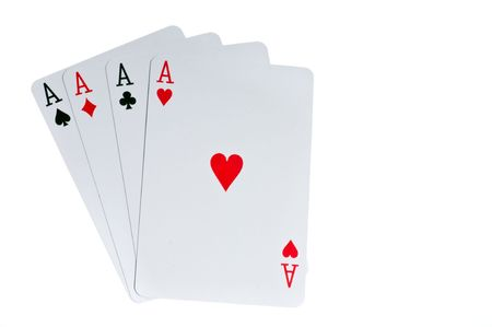 poker game: Four aces cards to win poker game