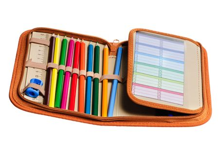 pencil case: case of pencil and other school tools