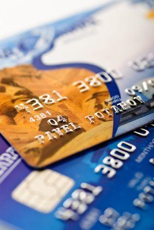 銀の数字とフォーカスのクレジット カードの浅い深さにチップのクローズ アップ 写真素材