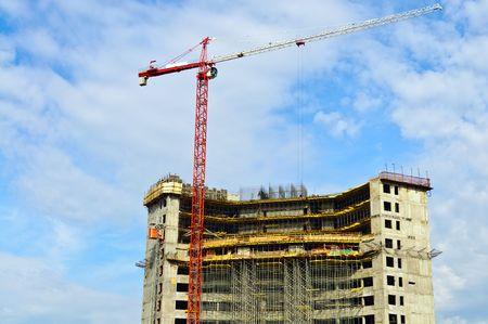 construction crane over blue sky Stock Photo - 3537222