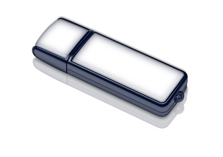 computer memory: illustration of usb memory card lying on the white background Stock Photo