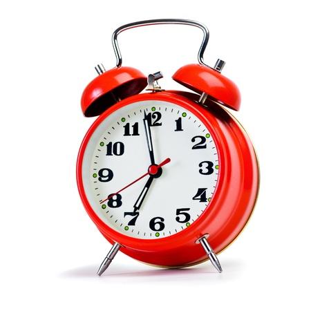 reloj despertador: Reloj de alarma retro en blanco. Tamaño enorme foto