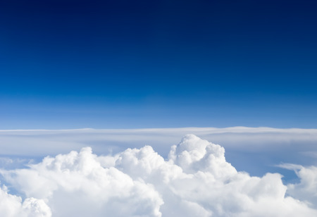 above the clouds: View above the sky from airplane