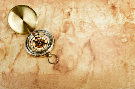 windrose: Old paper with compass grunge background Stock Photo