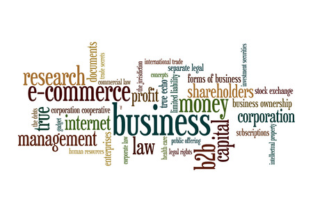 B2B Business to  business - Word Cloud photo