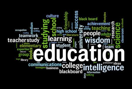 facilitating: Education word cloud conceptual image