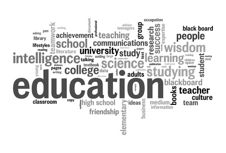 Education word cloud conceptual image