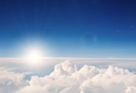 above the clouds: aerial view sky and clouds