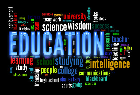 facilitating: Education word cloud concept image