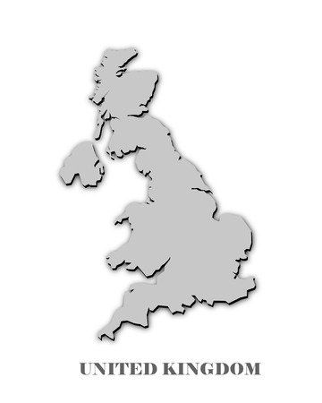UNITED KINGDOM MAP on white photo