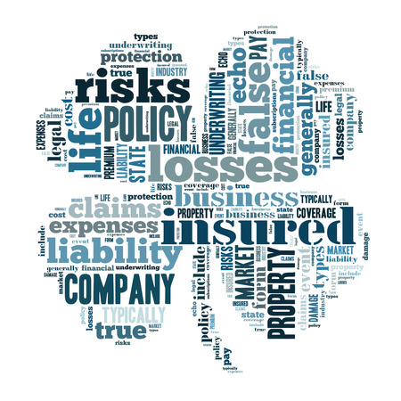 liability: insurance word cloud conceptual image Stock Photo