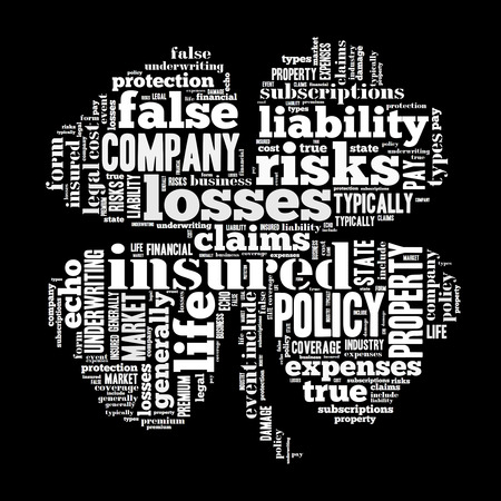 claims: insurance word cloud conceptual image Stock Photo