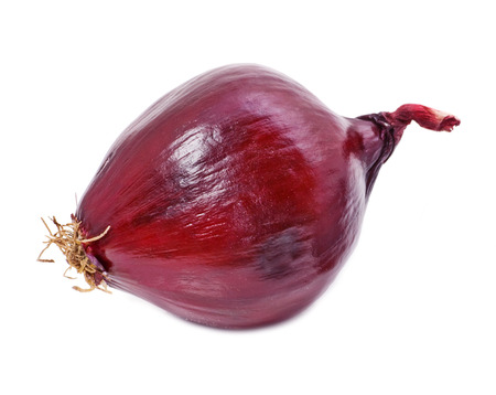 aftertaste: red onion vegetable isolated on white Stock Photo