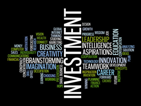 investment strategy: Investment strategy concept word cloud