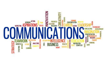 tele communication: Tele Communication business word cloud