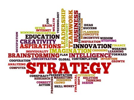 think big: business strategy concept word cloud