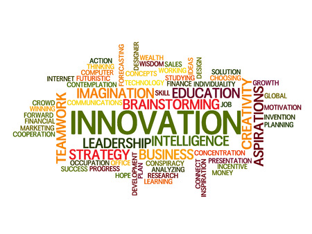 intuition: innovation idea Word Cloud Concept