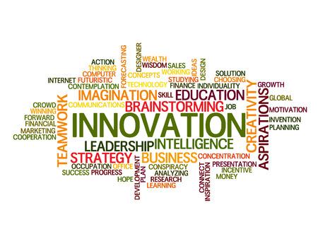 innovator: innovation idea Word Cloud Concept
