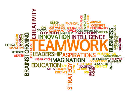 work task: Teamwork idea Word Cloud Concept