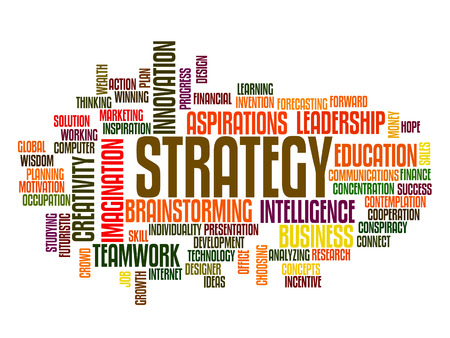 new strategy: businessstrategy concept word cloud