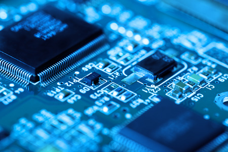 electronic circuit board with processor Editorial