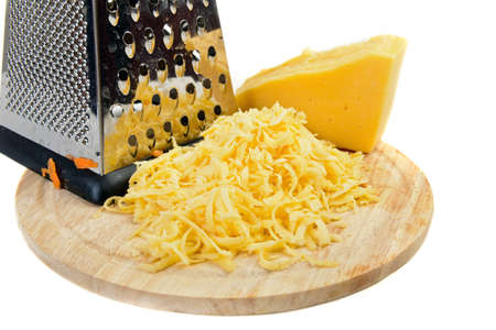 queso rayado: rallado ingrediente queso en blanco