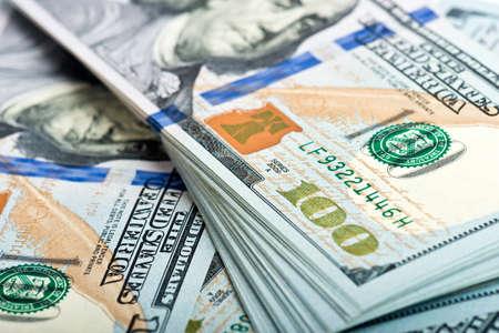 factura: Montón de muchos billetes de dólar americano