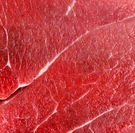 Raw red beef meat macro texture or background Stock Photo
