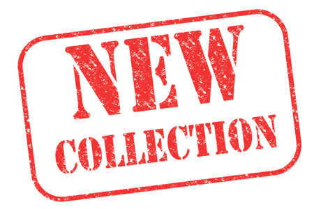 stamp collection: Rubber stamp New Collection on white