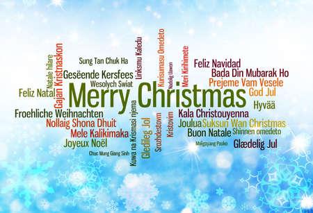 Tipografía Navidad: Feliz Navidad escrito en muchos idiomas