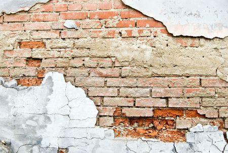 pared rota: Grunge textura de ladrillo