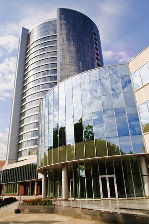 megalopolis: skyscraper, business center in megalopolis Stock Photo