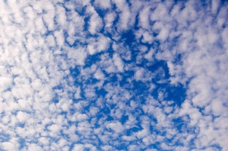 puffy: White clouds on blue sky