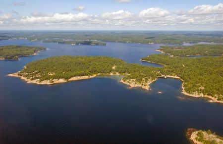 birdseye: birds-eye view on lake and islands