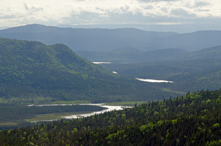 Haze between the mountains in Gros Morne National Park, Newfoundland photo