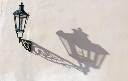 lamp shade: vintage street lamp, Prague, Czech Republic Stock Photo
