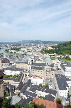 Cityscape of Salzburg town, Austria photo