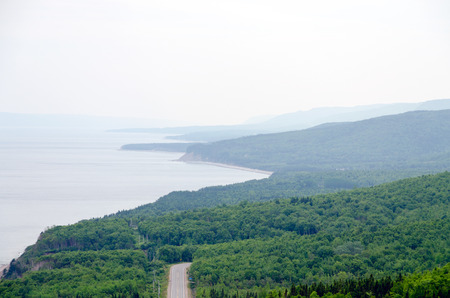 nova: Coastline of Breton Highlands national park in Nova Scotia, Canada
