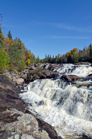 superior: Cascading water over rocks in Superior Lake Provincial park, Canada Stock Photo