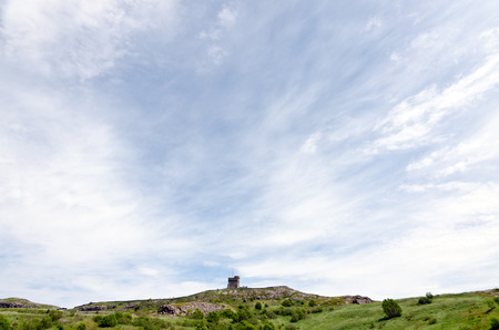 national historic site: Signal Hill National Historic Site. Canada in sunny day