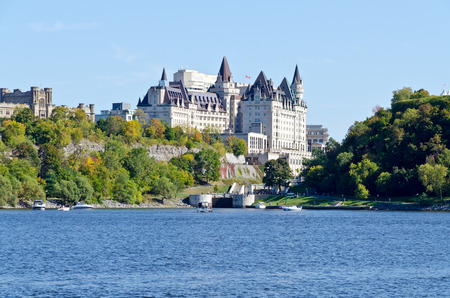 Historic buildings in Downtown Ottawa, Canada photo
