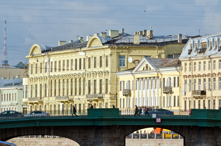 historical buildings: Historical buildings and streets in St. Petersburg, Russia Stock Photo